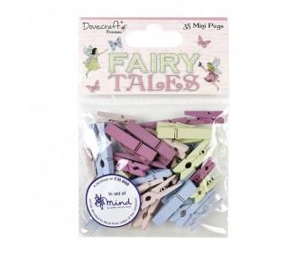 Puidust pesulõksud Dovecraft Mini 35tk - Fairy Tales