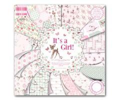 Motiivpaberite plokk First Edition 30x30cm, 48 lehte - It's a Girl!