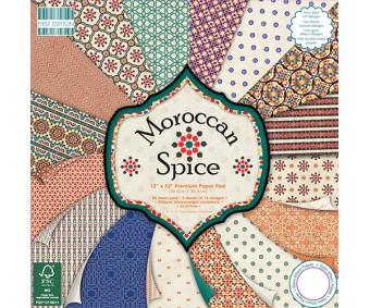 Motiivpaberite plokk First Edition 30x30cm, 48 lehte - Moroccan Spice