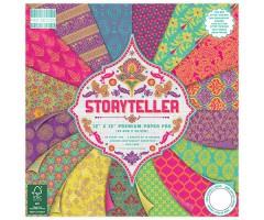 Motiivpaberite plokk First Edition 30x30cm, 48 lehte - Storyteller
