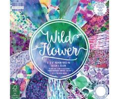 Motiivpaberite plokk First Edition 30x30cm, 48 lehte - Wild Flowers