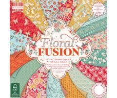 Motiivpaberite plokk First Edition 30x30cm, 48 lehte - Floral Fusion