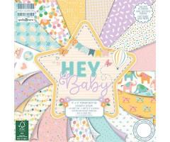 Motiivpaberite plokk First Edition 30x30cm, 48 lehte - Hey Baby