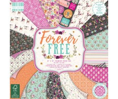 Motiivpaberite plokk First Edition 30x30cm, 48 lehte - Forever Free