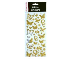 Sädelevad dekoratiivkleepsud Simply Creative - kuldsed liblikad