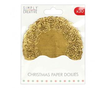 Paberist lõiked pitsäärega - 30 tk, kuldsed