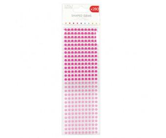 Kleepuvad kristallkivid Simply Creative - Flowers Pink, 6mm