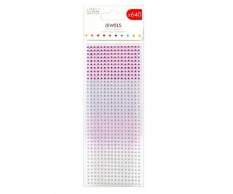 Kleepuvad kristallkivid Simply Creative - lillad toonid, 3mm