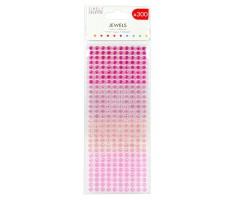 Kleepuvad kristallkivid Simply Creative - roosad toonid, 6mm