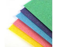Glitter-vilt A4, 5 lehte - värviline