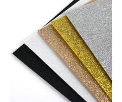 Glitter-vilt A4, 5 lehte - metallik