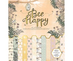 Motiivpaberid Dovecraft 30x30cm, 36 lehte - Bee Happy