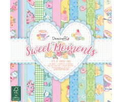 Motiivpaberid Dovecraft 20x20cm, 48 lehte - Sweet Moments