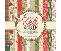 Motiivpaberid Dovecraft 30x30cm, 36 lehte - Little Red Robin