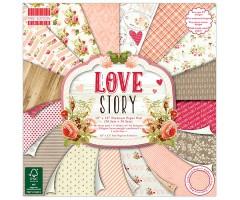 Motiivpaberite plokk First Edition 30x30cm, 48 lehte - Love Story