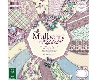 Motiivpaberite plokk First Edition 30x30cm, 48 lehte - Mulberry Kisses