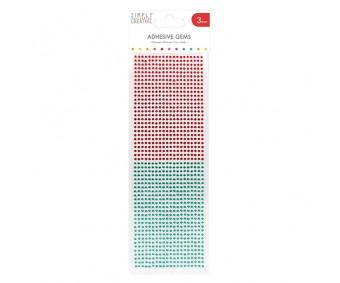 Kleepuvad kristallkivid Simply Creative - punane/roheline, 3mm