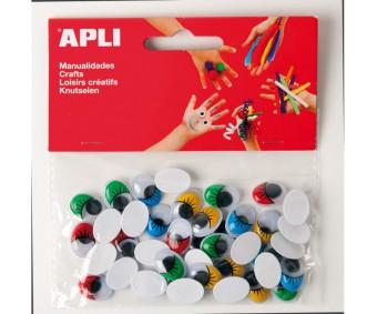 Käsitöösilmad Apli 40tk - värvilised