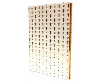 Visandiraamat Rossi, kuldne A5, 100g, 80 lehte - Mesilased
