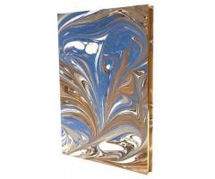 Visandiraamat Rossi, kuldne A5, 100g, 80 lehte - Sinine marmor