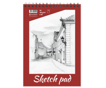 Visandiplokk Sketch Pad 190 g/m², 30 lehte - A4