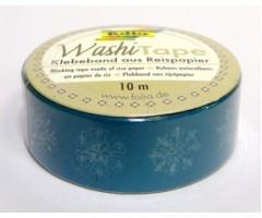 Washi teip Folia 15mm x 10m - lumehelvestega
