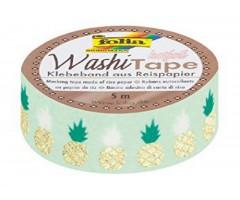 Washi teip Folia Hotfoil 15mm x 5m - ananassid