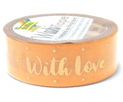 Washi teip Hotfoil 15mm x 5m - With Love - Folia