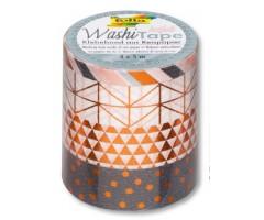 Washi teip Folia Hotfoil 4x5m - geomeetriline