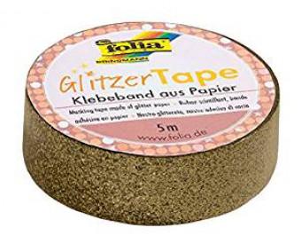 Sädelev teip Folia Glitzer - kuldne