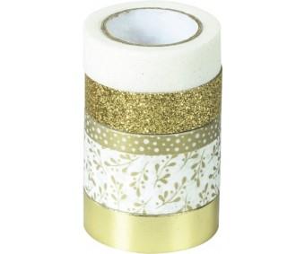 Dekoratiivteipide komplekt 5tk - kuldne - Heyda