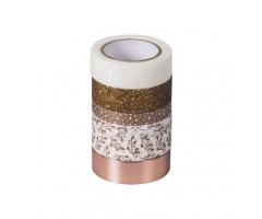 Dekoratiivteipide komplekt 5tk - vaskne - Heyda