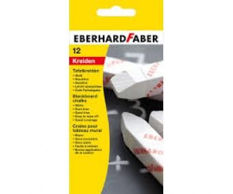 Tahvlikriidid Eberhard Faber - 12 tk, valge