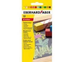 Tahvlikriidid Eberhard Faber - 12 tk, värviline