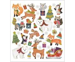 Kleepsud DECO - metsloomade jõulud