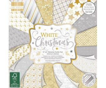 Motiivpaberid 30,5x30,5cm, 48 lehte - White Christmas