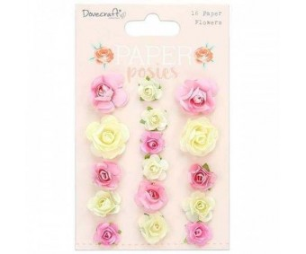 Paberlilled Dovecraft, 16 tk - Paper posies