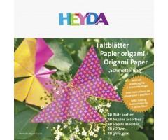 Origami paber  Lilled/Liblikad, 70g/m² 15x15cm  40 lehte