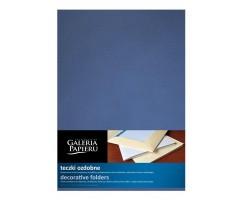 Kaaned A4 visiitkaarditaskuga, metallik sinine 10tk pakis, Galeria Papieru
