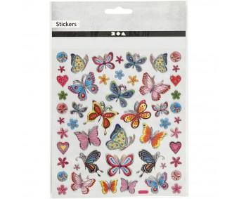 Kleepsud - liblikad, lilled, südamed