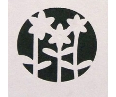 Motiivauguraud 32 mm - lilled 6006