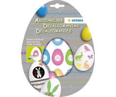 Kaunistus munale (vesipilt) - munad ja jänesed