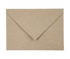 Ümbrik taaskasutatud paberist C6 - pruun, 50 tk