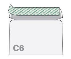 Ümbrik iseliimuv, hall sisetrükk, 50 tk - C6