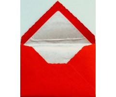 Ümbrikud Rossi voodriga - Punane, 70x100mm, 10tk