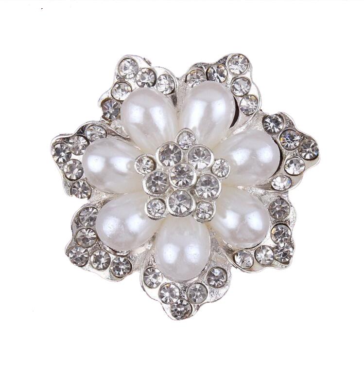 cbca67375ae Kaunistus pärlite ja kivikestega - lill, 40mm